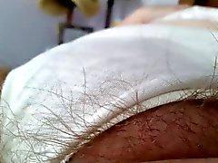 wifes atractivos pies & importante peludo coño a pantys blanca