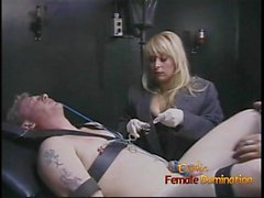 Two slutty bimbos have some naughty fun with a horny studs