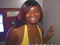 Monique sets Gloryhole Record 21 Guys