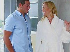 Moms Bang Teen - Stepmom makes fucks young couple