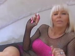 Hot Blond Dom Smoking