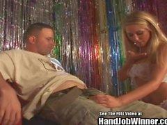 Brynn Tyler and Tanners Mayes Handjob Sperm Swap