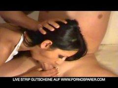 Het tysk flicka Suga av Långt ner Cum i munnen