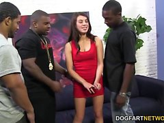 Tiffany Doll Loves Double Penetration with Black Cock