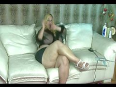 Plumper Blonde Gets Fucked By A Machine As She Vibes Her Pussy - (Devious)