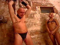 German Mistress dominating a couple