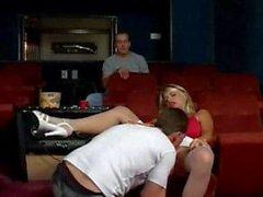 Sexy Slut Bangs At Theater