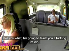 FemaleFakeTaxi Wet pussy after attempted robbery
