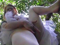 Madison masturbates in the trees