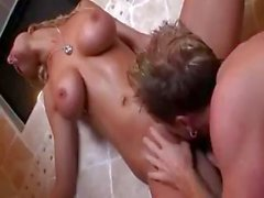 Blonde hottie Tanya James is a busty bride that gets her virgin throat fucked and more