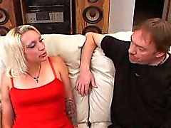 Blonde Foreign Wife Fucked On Couch
