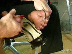 Cum In Office Business Lady Shoes - LoversHeels@Pornhub