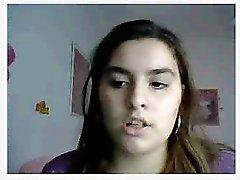 Chatroulette - adolescente strofina la figa hairy