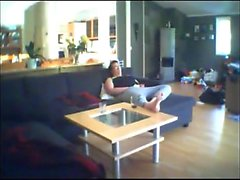 Chubby woman gets bored and horny so she starts rubbing her