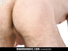 MormonBoyz - Muscle daddy barebacks horny boy on altar