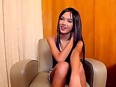 Ladyboy beauty doggystyled in tight ass