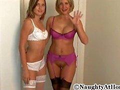 Lesbian Strap-on Threesome