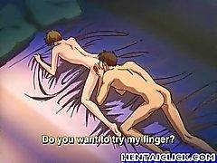 Ve Anime twink ateşli rubbed ve becerdin