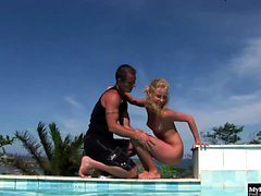 Eva Zidlicka is not only a lustful blonde, shes limber as...