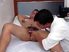 азиатских доктор посасывая курок больных жесткий
