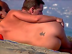 Nice ass, flat top at the nude beach 02