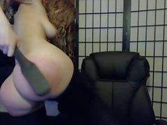 nice big butt spanked