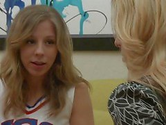 Friendly chat turns naughty for cheerleader