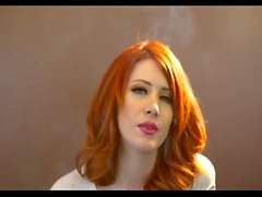 Redhead smokes POV 2