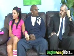 Watching my daughter nailed by black monster dick 6