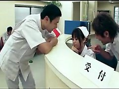 Insatiable Japanese nurse with a marvelous ass has a passio
