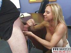Tense Step-Mom Brooke Tyler In Stockings Likes Best Dick