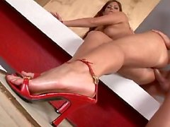 Lucie Theodorova, anal and footjob