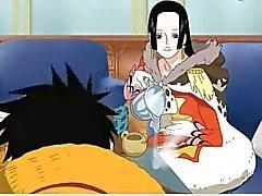 Boa Hancock fucks with Luffy (One Piece)