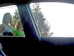 Rus Public FLASH Car Watching GIRLS 96 - NV