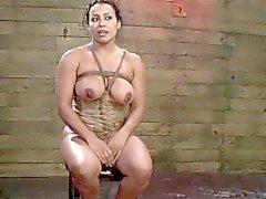 Domina fingers tied slave