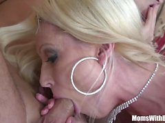Blonde MILF Diana Doll Gets A Mouth Full Of Cum