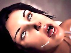 Lara Croftin 3D ryhmäseksiä ja DP