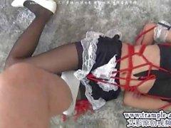 Asian Pantyhose Bondage