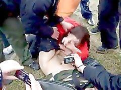 Public blowjob by Russian teen