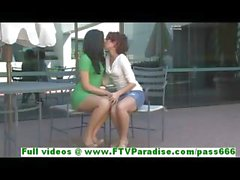 Rita and Madeline lovely lesbians kissing and fingering pussies