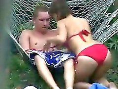 Russian Couple Being Watched By A Voyeur