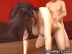Busty japanese girl gets fucked by two part2