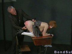 Bdsm redhead studen anal filled with cum
