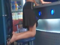 Skinny small titted teenie bartender