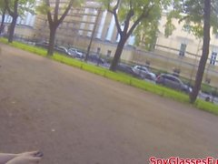Russian girl gets her ass plowed from the back