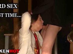 Chubby bride loves spank in an homemade scene