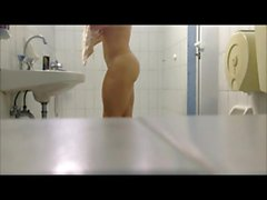 Girl With Big Butt Takes a Shower