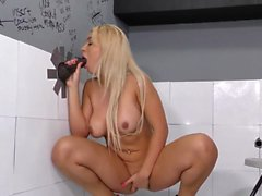 Slut on gloryhole anal