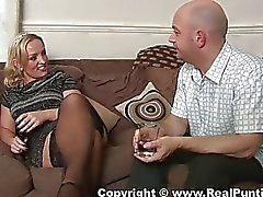 Milf exposes her pussy and gets it licked