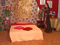 Horny Latin tranny is a gorgeous anal whore